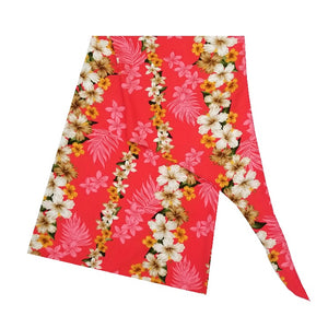 Made In Hawaii Hawaiian Hibiscus Sarong Large  - Peach