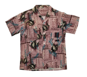 60's Tapa Angel Fish Aloha Shirt