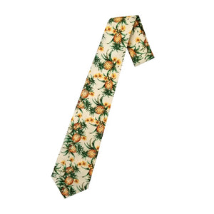 Hilo Hattie Pineapple Necktie - Cream