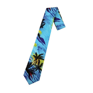 Hilo Hattie Palm Tree Necktie - Blue