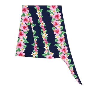 Made In Hawaii Hawaiian Sarong Large - Hibiscus Navy