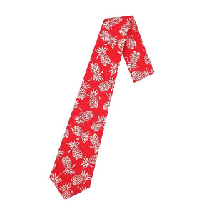 Hilo Hattie Pineapple Necktie - Red/White
