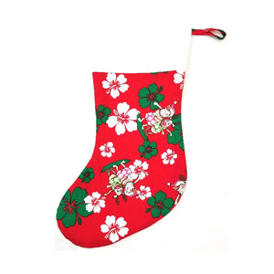 Limited Edition Red Hula Santa Christmas Stocking