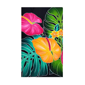 HALEIWA SARONG #11 - Anthurium & Monstera Leaf