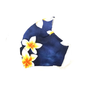 Plumeria Fashion Face Mask