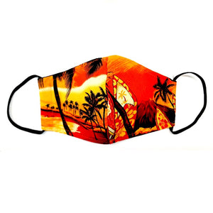 Waikiki Woody Fashion Face Mask