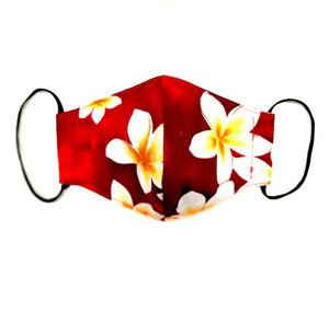 Kids Plumeria Fashion Face Mask