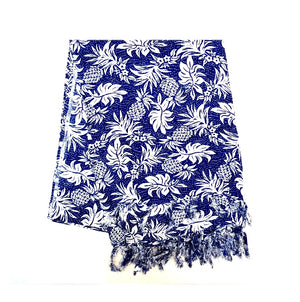 New Long Sarong - Pineapple Navy