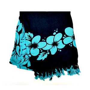 New Long Sarong - Black/Teal