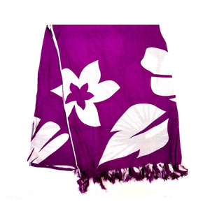New Long Sarong - Purple/White