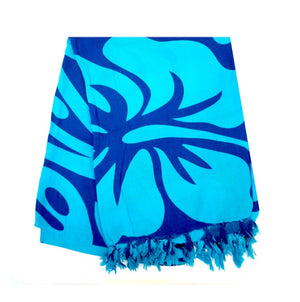 New Long Sarong - Turquoise/Navy