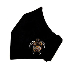 Rhinestone Fashion Face Mask - Honu
