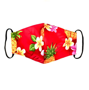Kids Waimea Valley Red Fashion Face Mask