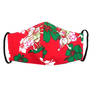 Santa Hula Fashion Face Mask