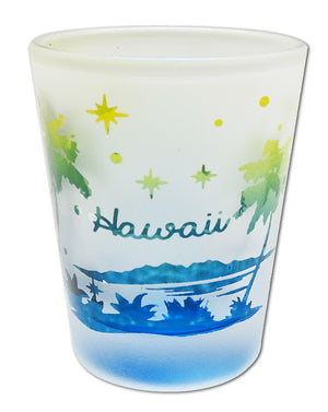 Etched Frosted Shot Glass - Palms Hawaii - 25031
