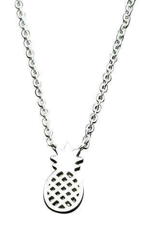 Human Design Pineapple Necklace Silver