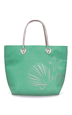 TOTE SILVER - SEA SHELLS