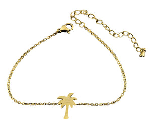 Human Design Palm Tree Bracelet Gold