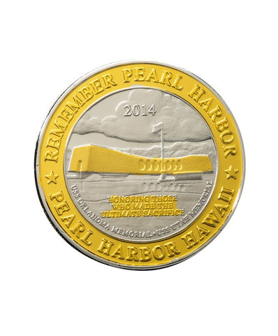 USS Arizona Memorial Commemorative Coin Silver Clad and Gold Select