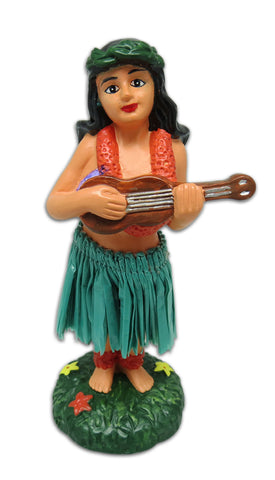 HULA GIRL UKULELE MINI DASHBOARD DOLL