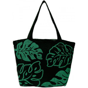Monstera Green Beach Tote