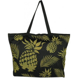 Golden Pineapples Beach Tote