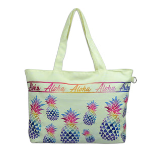 Island Impressions Medium Tote Bag - Pineapple Rainbow
