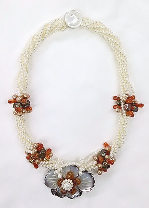 Lucoral Museum Sunset Blossom Necklace