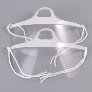 CLEAR MOUTH SHIELD - SANITARY FACE MASKS - 10 PIECE
