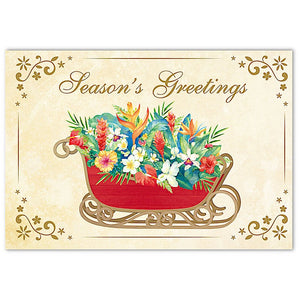 BOXED CHRISTMAS CARDS DELUXE - SLEIGH OF ALOHA - 62877
