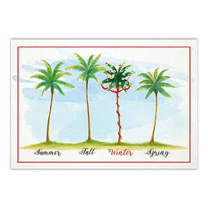 BOXED CHRISTMAS CARDS DELUXE – PALMS OF THE SEASONS - 62881