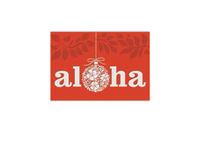 SUPREME CHRISTMAS CARDS BOX - ORNAMENT OF ALOHA - 62909