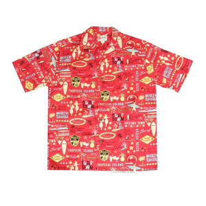 "Hilo Hattie Original ""Surf Town"" Cotton Men's Aloha Shirt"