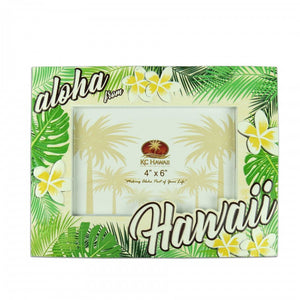 PICTURE FRAME / POLY RESIN / ALOHA PLUMERIA