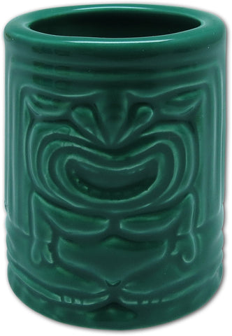 TIKI SHOT GLASS - WINTER TIKI EMERALD