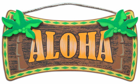ALOHA - HAWAIIAN WOOD SIGN