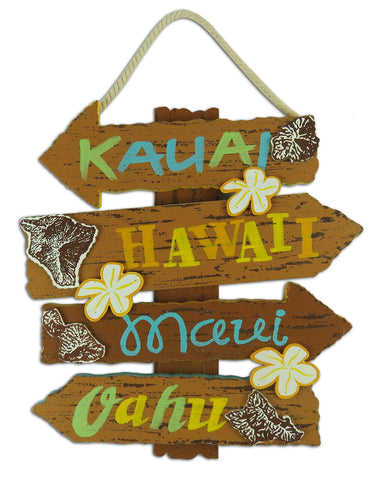 HAWAIIAN ISLANDS - HAWAIIAN WOOD SIGN