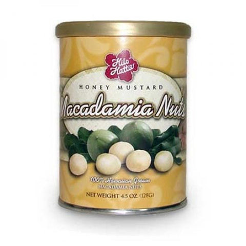 Hilo Hattie Honey Mustard Macadamia Nuts Can