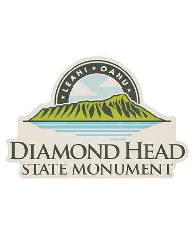 Diamond Head White Car Magnet