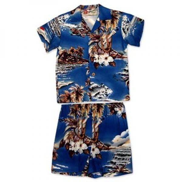 Blue hawaii boy 39 s cabana set hilo hattie the store of for Lil flip jewelry collection