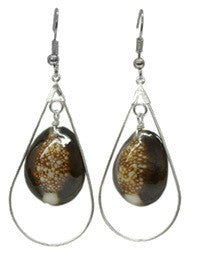 Snake Head Cowrie Shell Earrings