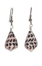 Black & White Cone Shell Earrings