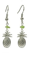 Pineapple Peridot Chip Earrings