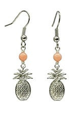 Pineapple Charm Pink Coral Earrings
