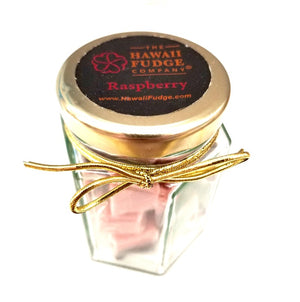 The Hawaii Fudge Company 12 piece Fudgelette™ Raspberry Chocolate Jar