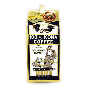 Mulvadi 100% Kona Coffee - Whole Bean 7oz