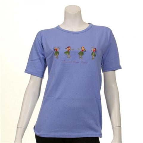 Womens Embroidered 4 Hula Girls Tee
