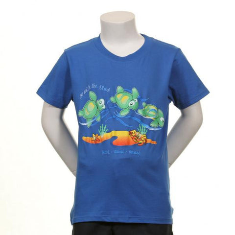 "Go With the Flow"" Honu (Sea Turtle) T-Shirt"