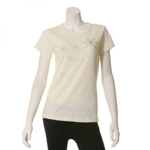Womens Plumeria Bling T-Shirt