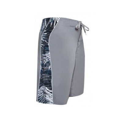Men's Fern Print Board Shorts ~ Gray